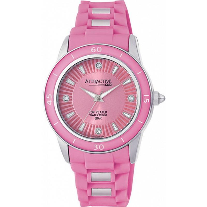 Дамски часовник Q&Q ATTRACTIVE - DA43J302Y