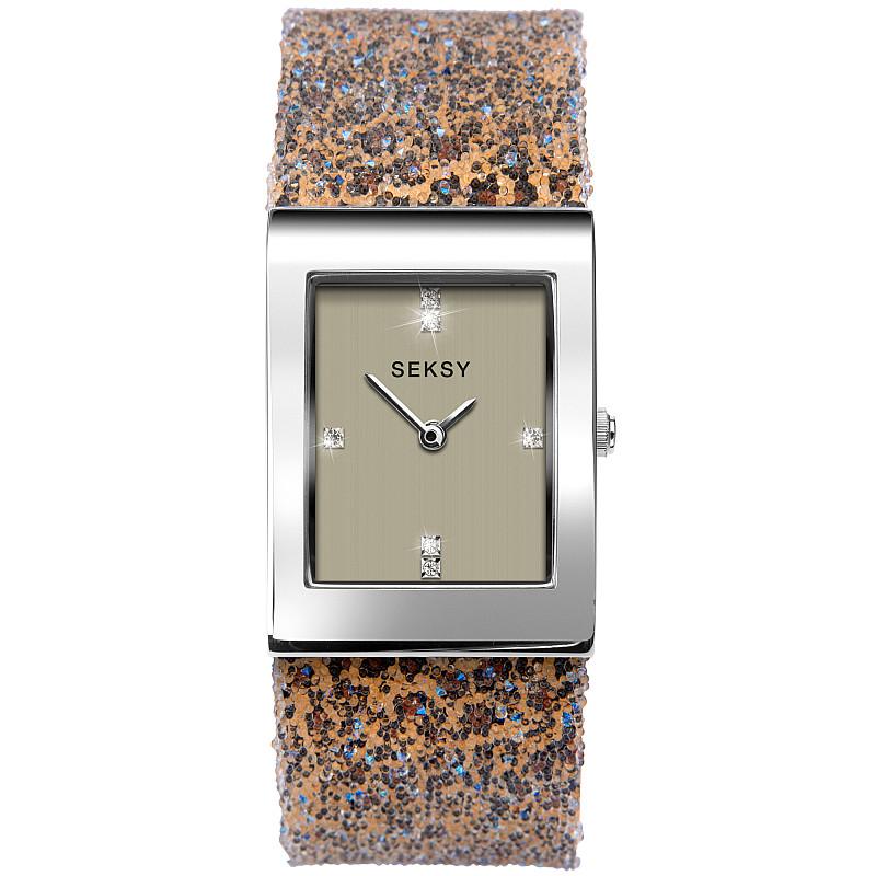 Дамски часовник Seksy Rocks Leopard Print Swarovski Crystals - S-2851.37 1